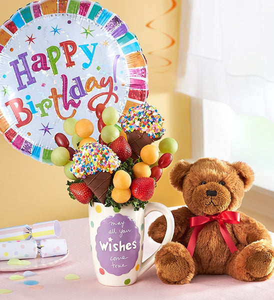Ice cream Wishes with Balloon & Teddy Bear