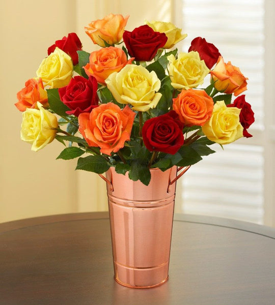 Classic Autumn Roses, 18 Stems-OOS