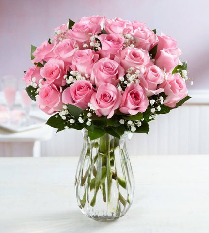 Pink Roses, 6-24 Stems