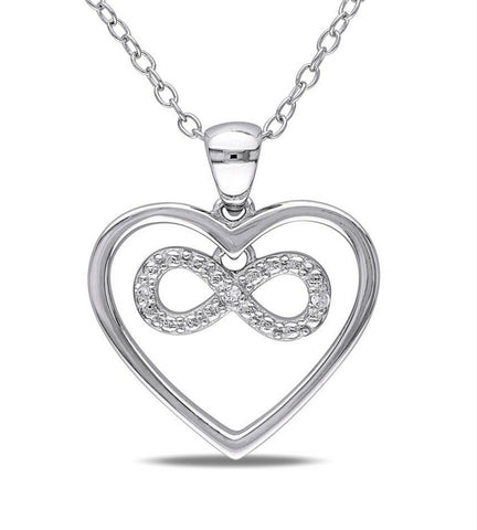 Infinity Heart Diamond Necklace