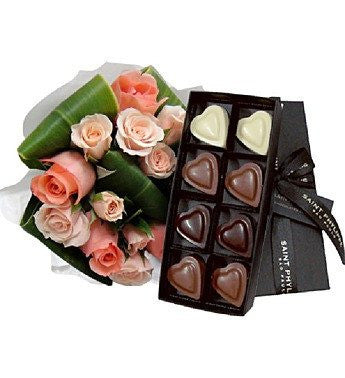 Roses and Chocolate Combo
