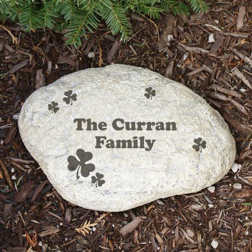 Engraved Irish Garden Stone