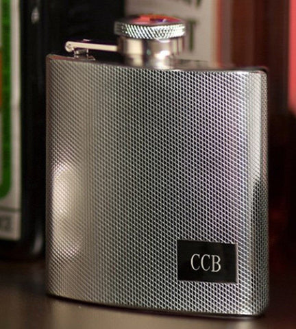 Personalized Textured Stainless Steel Flask
