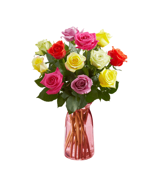 Rainbow Rose Bouquet - OOS