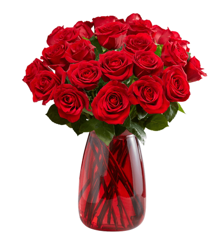 Red Roses, 24 Stems.