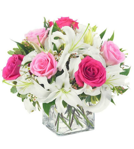 Lily Love and Pink Rose Arrangement