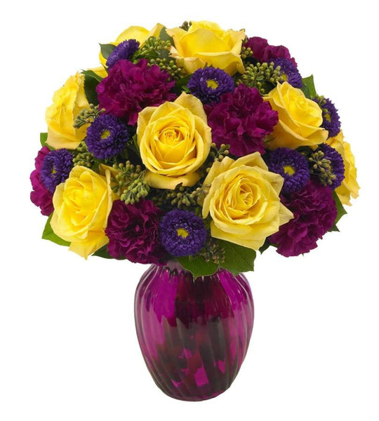 Yellow and Purple Floral Harmony