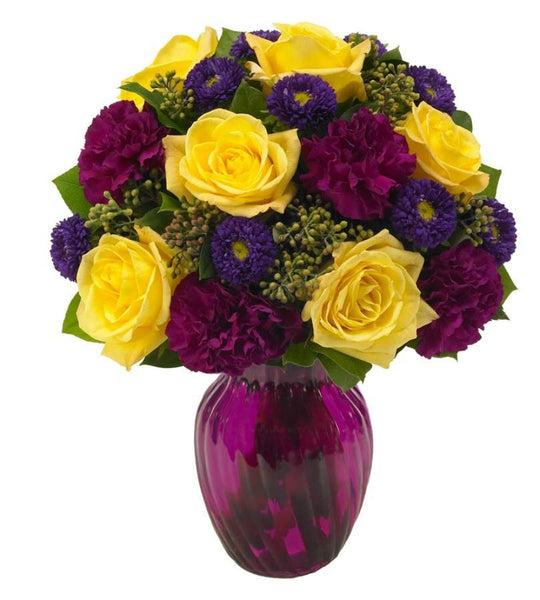 Yellow and Purple Floral Harmony - Florists.com  - 2