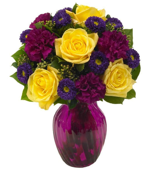 Yellow and Purple Floral Harmony - Florists.com  - 3