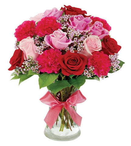 Pink and Red Rose Bouquet.