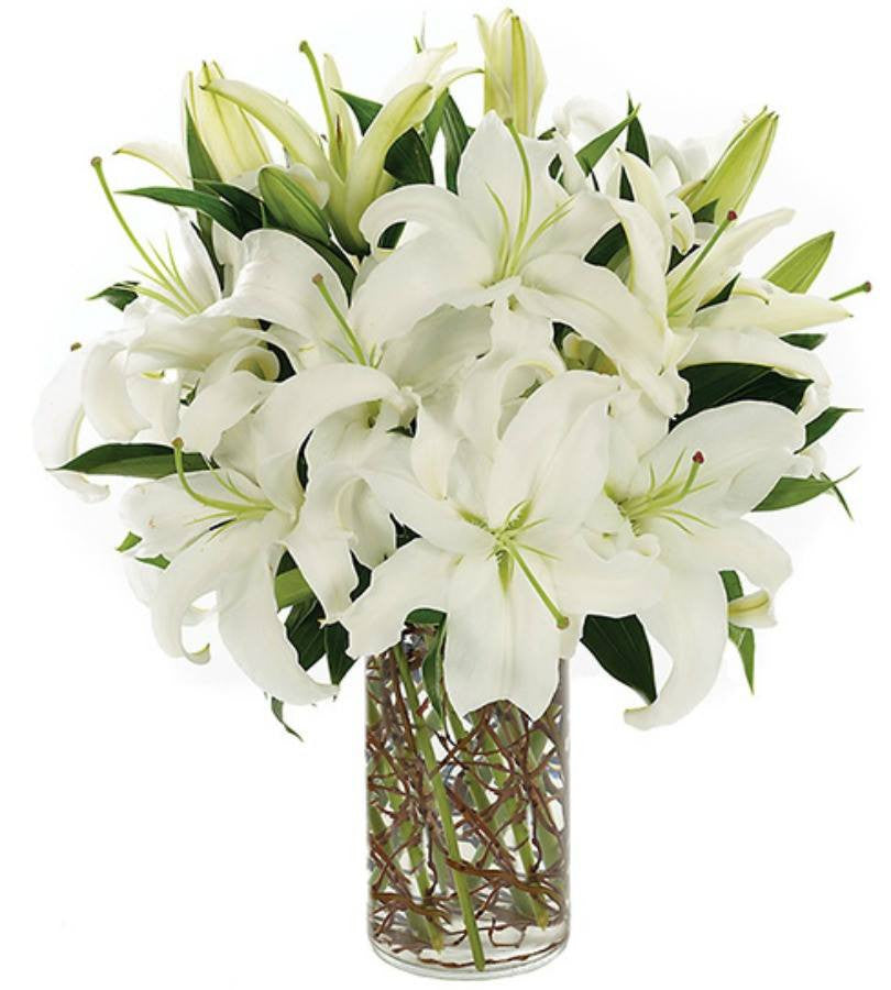 Mixed Lilies and white roses