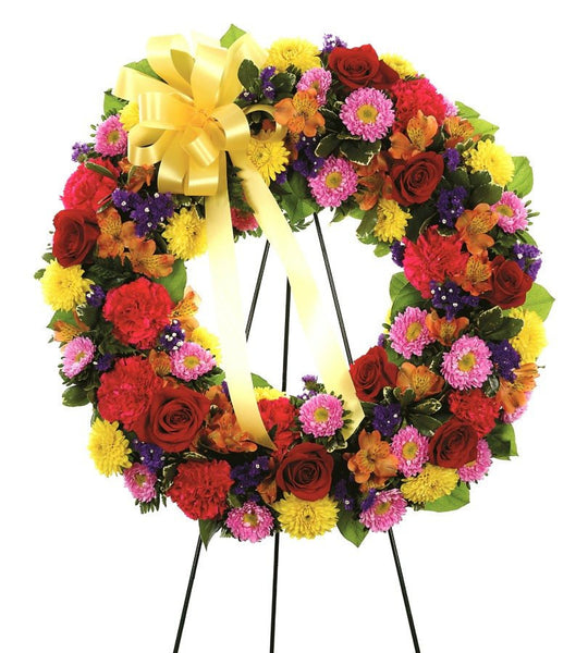 Colorful Memorial Wreath