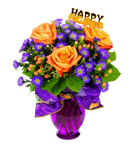 Purple and Orange Bouquet - OOS