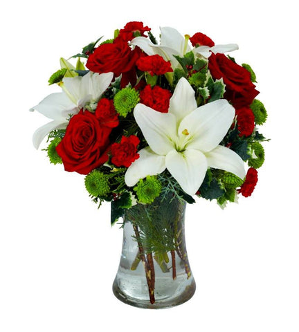 Red and White Floral Splendor