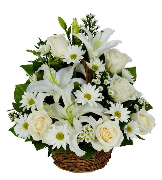 Snow White Basket. - Florists.com