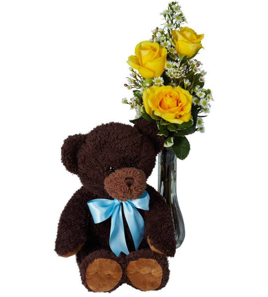 Yellow Roses and Bear Hugs