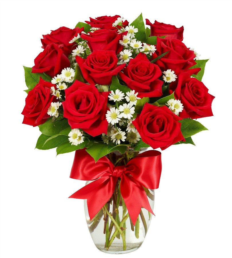 Red roses for her for 12 dozen roses at your door
