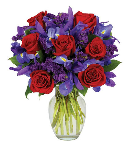 Dark Purple Roses Romance