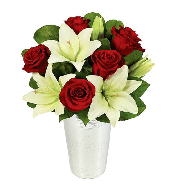 Asiatic Lilies and Red Roses - Florists.com  - 1