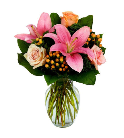 Pink Lily & Rose Bouquet.