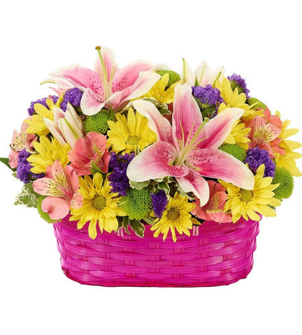 Pink Sweetheart Basket