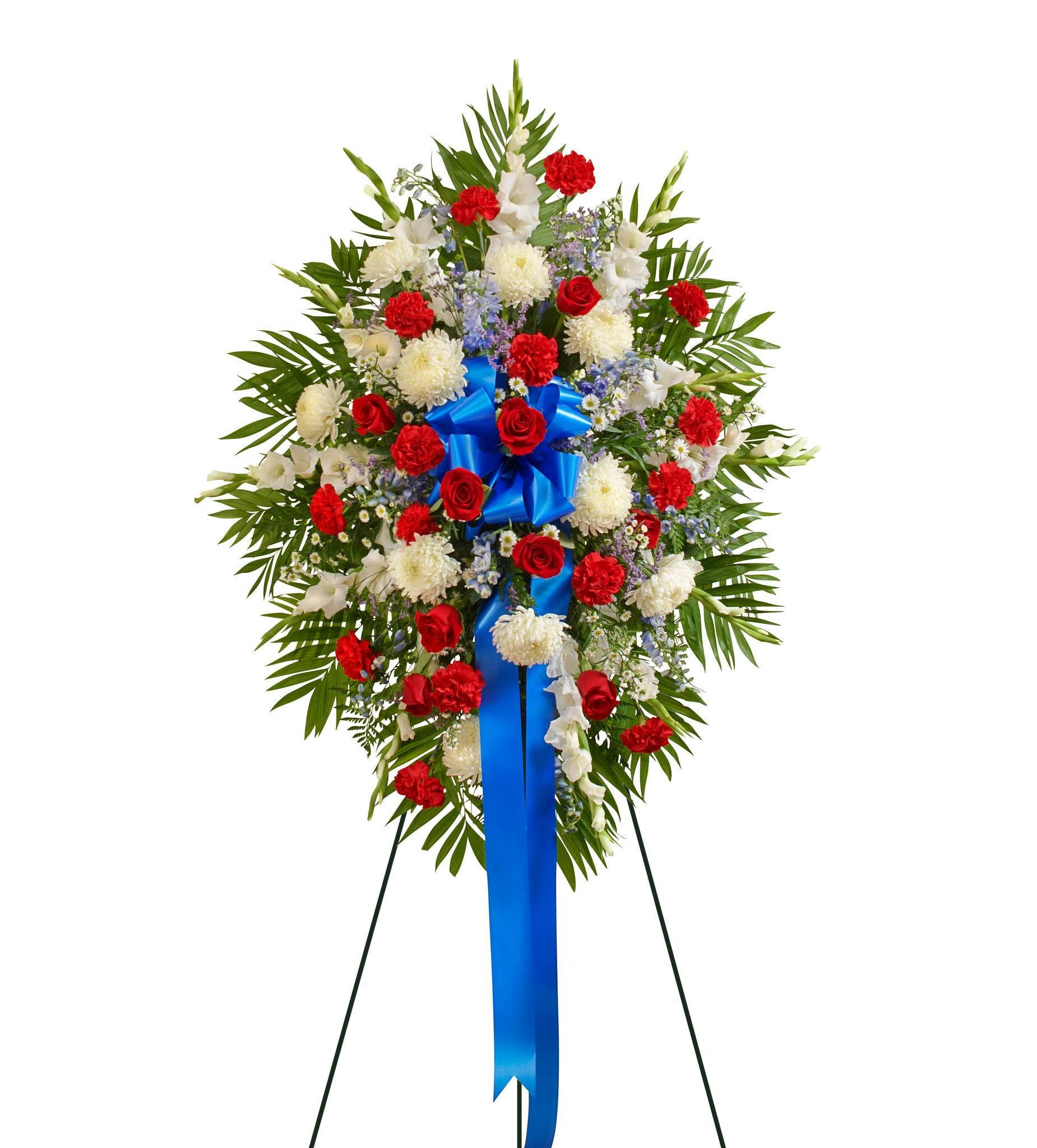 Funeral wreaths funeral sprays florists heartfelt red white blue izmirmasajfo