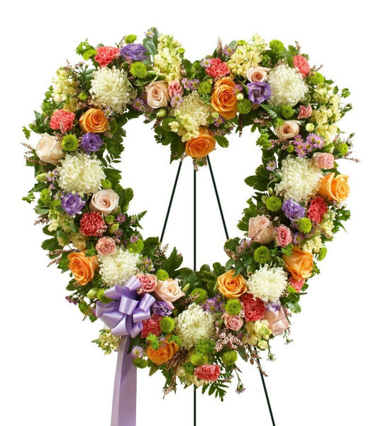 Open-heart Floral Tribute