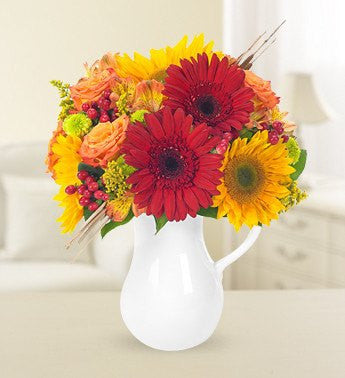 Sunflower Pitcher Bouquet