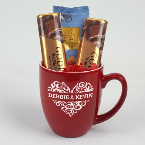 Personalized Couples Heart Mug Gift Set