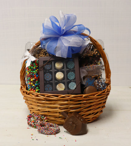 Hanukkah Chocolate Gift Basket