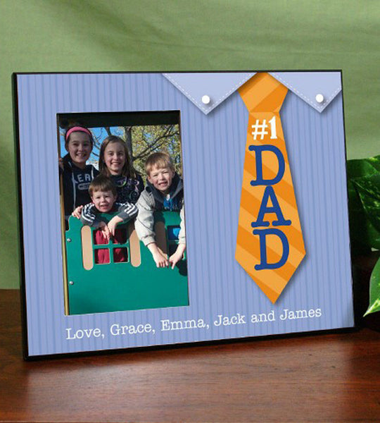 Personalized #1 Dad Frame