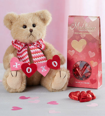 Valentine's Day Bear with Chocolates