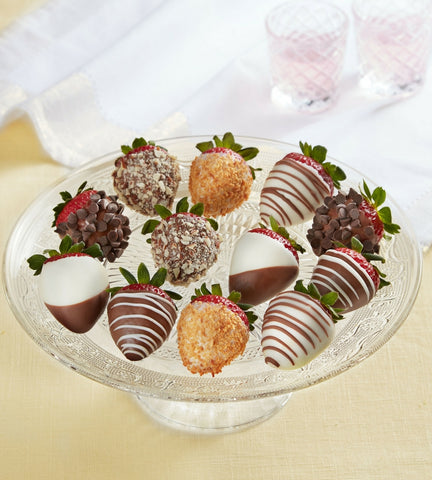 Milk, Dark & White Chocolate Dipped Strawberries