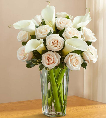 White Rose & Calla Lily Bouquet