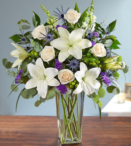 Asiatic Lilies & Roses Bouquet