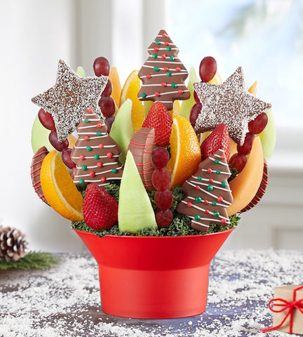 Festive Christmas Star Fruit Bouquet