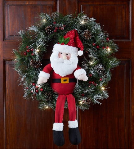 Holiday Santa Wreath