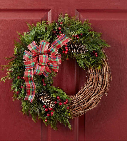Plaid Holiday Wreath