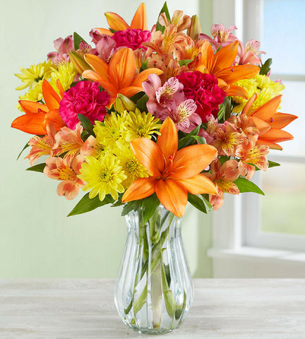 Asiatic Lilies & Carnations Bouquet