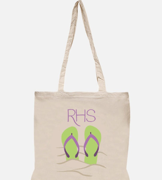 Personalized Flip Flop Beach Tote