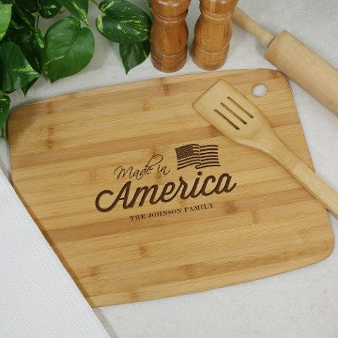 Engraved Patriotic Bamboo Cutting Board