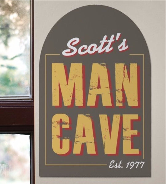 Rustic Man Cave Sign - OOS
