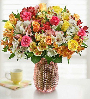 Pastel Roses and Peruvian Lilies. - OOS