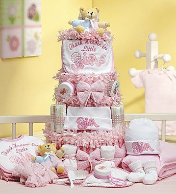 Deluxe Baby Girl Essentials Cake