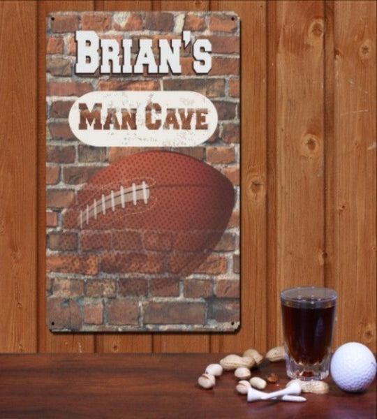 Personalized Football Man Cave Wall Sign