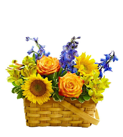 Blooming Birthday Flower Basket