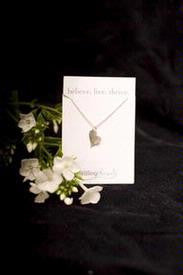 "Sterling Silver Heart Charm and 18"" Chain"