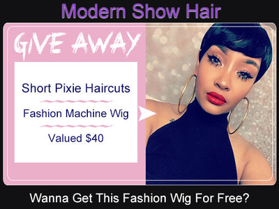 Give-Away On Modern Show Hair Short Pixie Haircuts Wig