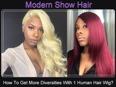 How To Get More Diversities With One Human Hair Wig?