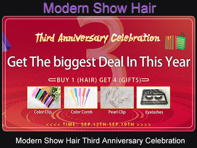Modern Show Hair Third Anniversary Celebration Sales